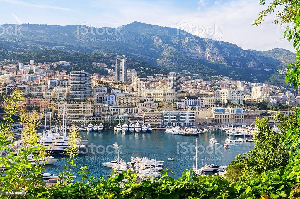 Monte Carlo harbour. Principality of Monaco stock photo