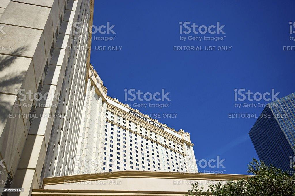 Monte Carlo Hotel Las vegas royalty-free stock photo
