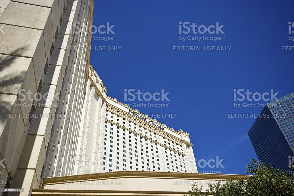 Monte Carlo Hotel Las vegas stock photo