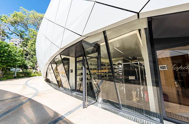 Monte Carlo Luxury YSL Shop stock photo