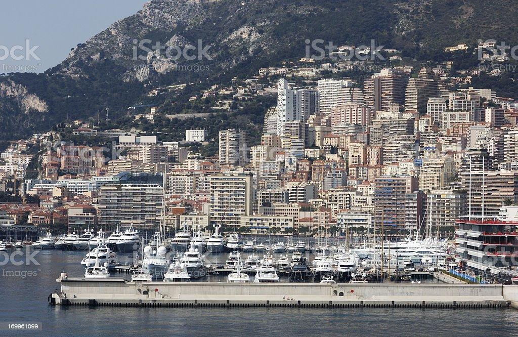 Monte Carlo, Monaco Skyline royalty-free stock photo
