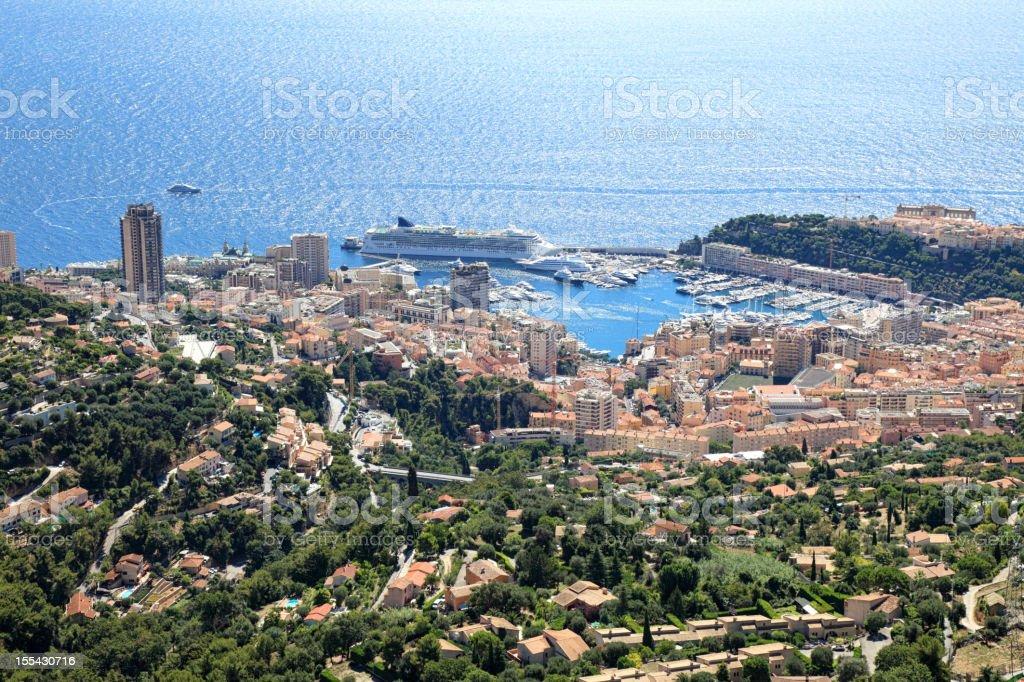 Monte Carlo panorama stock photo
