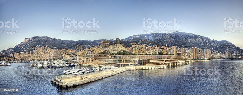 Monte Carlo Panorama (XXXL) royalty-free stock photo