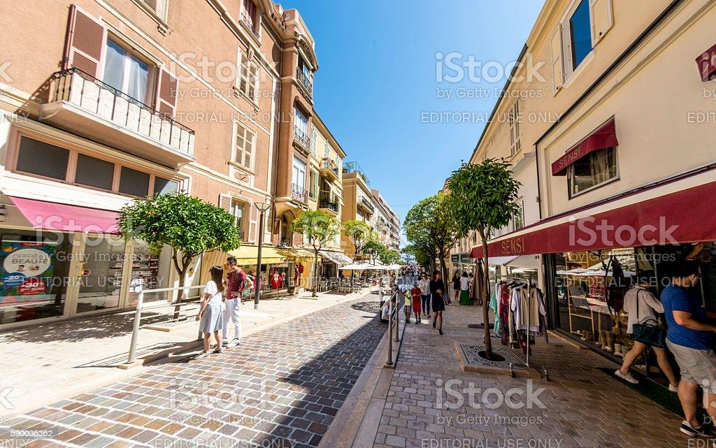 Monte Carlo Pedestrianised Street stock photo