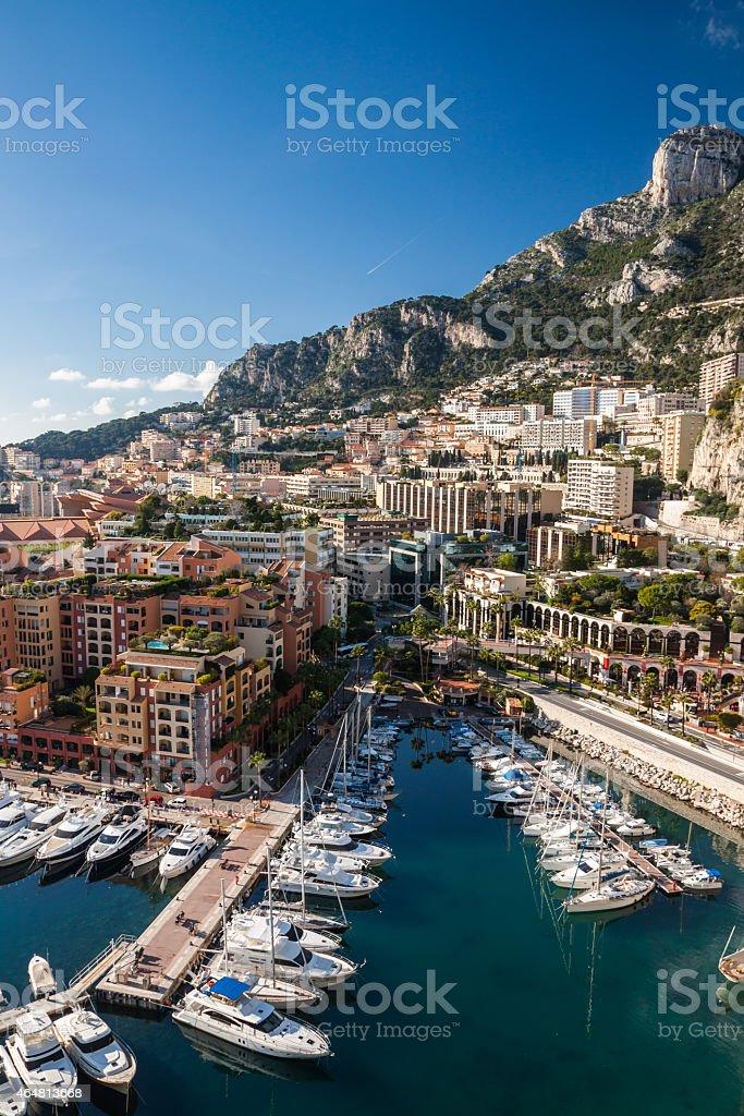 Monte Carlo skyline, French Riviera stock photo