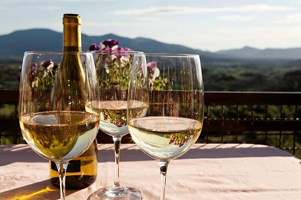 Monte Carlo White Wine stock photo