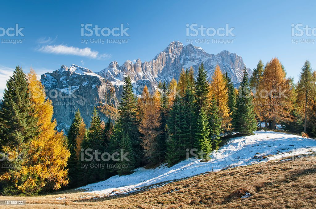 Monte Civetta stock photo