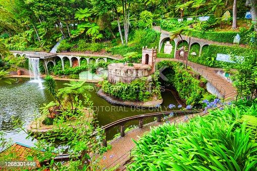 istock Monte Palace Tropical Garden in Madeira 1268301446