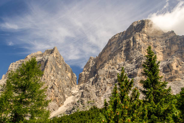 Monte Pelmo and Pelmetto - Dolomites - Italy stock photo