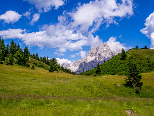 Monte Pelmo - Dolomites - Italy stock photo