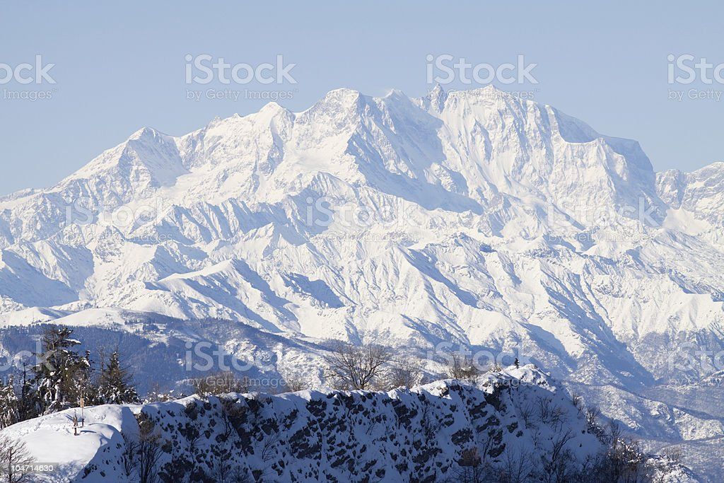 Monte Rosa mountain - Italy royalty-free stock photo