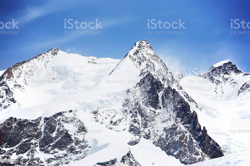 Monte Rosa peaks royalty-free stock photo