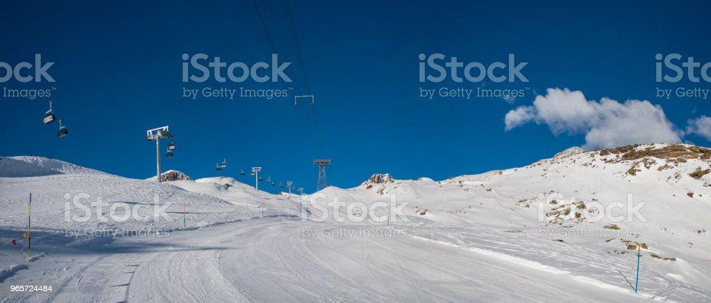 Monte Rosa ski slopes - Royalty-free Champoluc Stock Photo