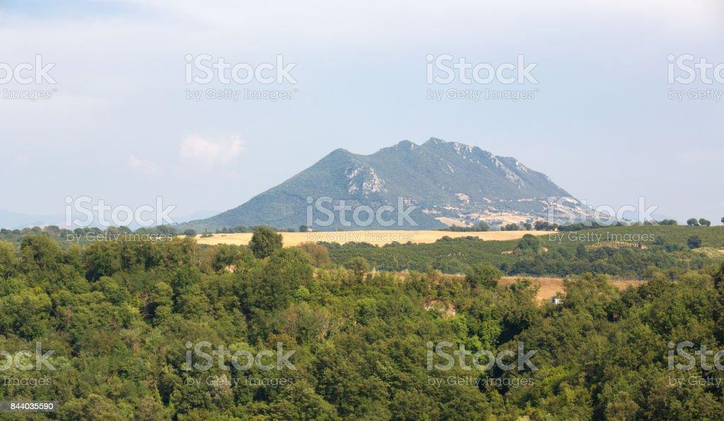 Monte Soratte Mountain, Province of Rome Lazio, Italy stock photo