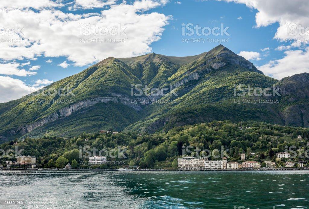 Monte Tremezzo on Lake Como, Italy stock photo