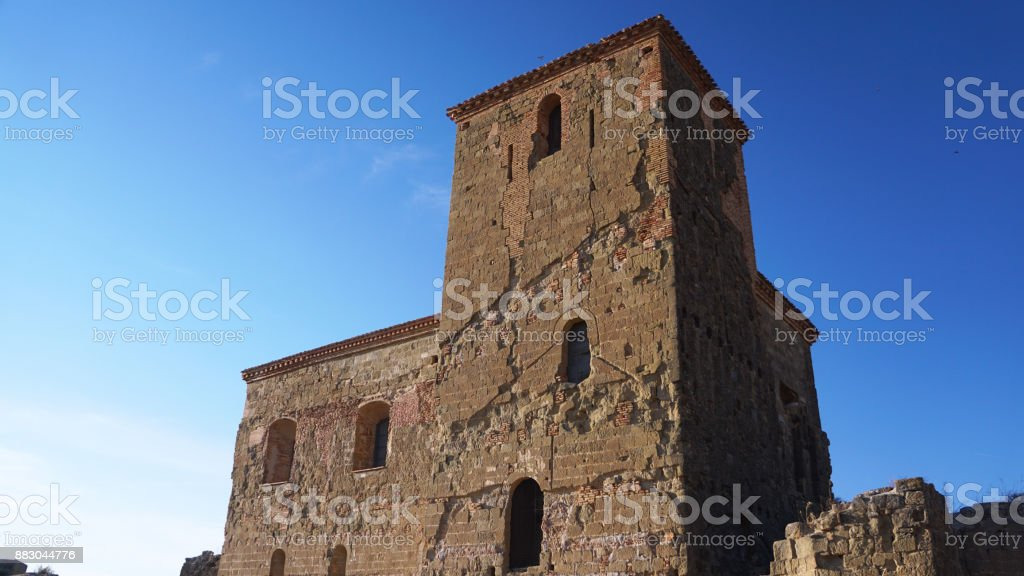 Castillo de Montearagon 2 stock photo