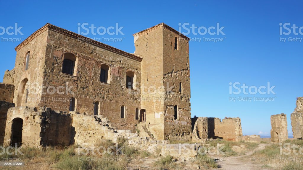 Castillo de Montearagon 3 stock photo