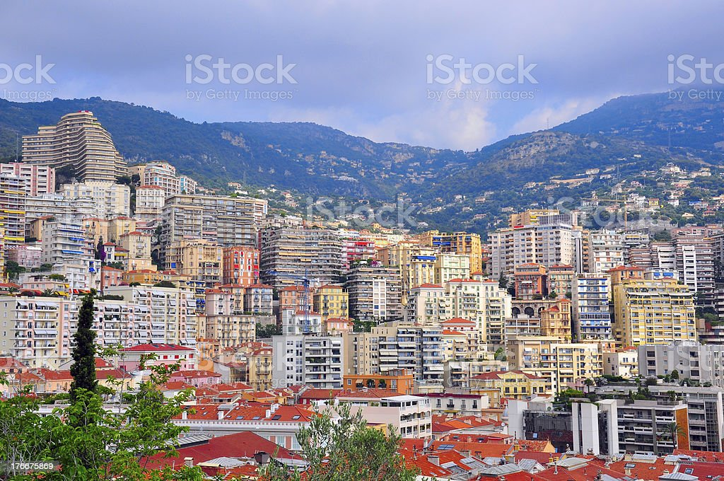 Monte-Carlo cityscape royalty-free stock photo