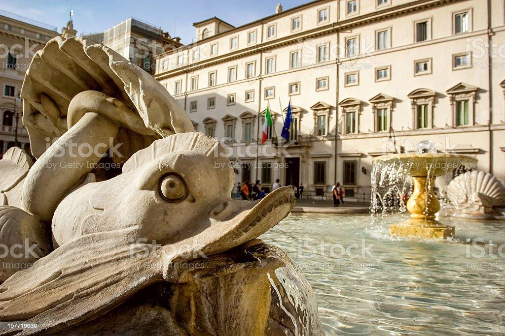 Montecitorio: La Casa del Parlamento italiano, Roma - Foto stock royalty-free di Architettura