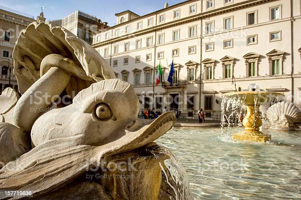Montecitorio La Casa Del Parlamento Italiano Roma - Fotografie stock e altre immagini di Italia