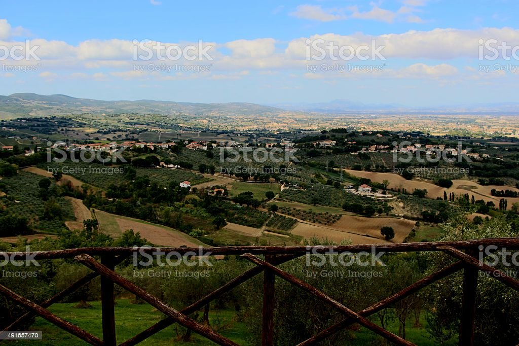 montefalco - panorama from the old town stock photo