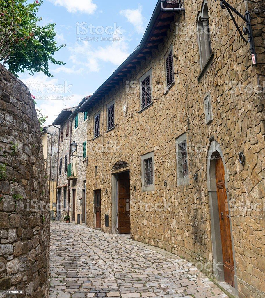 Montefioralle (Chianti, Tuscany) stock photo