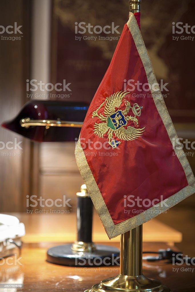 Montenegrin flag stock photo