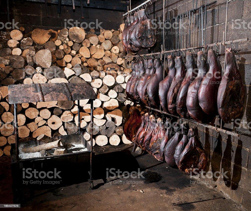 Montenegrin smoked Ham - Pršuta royalty-free stock photo