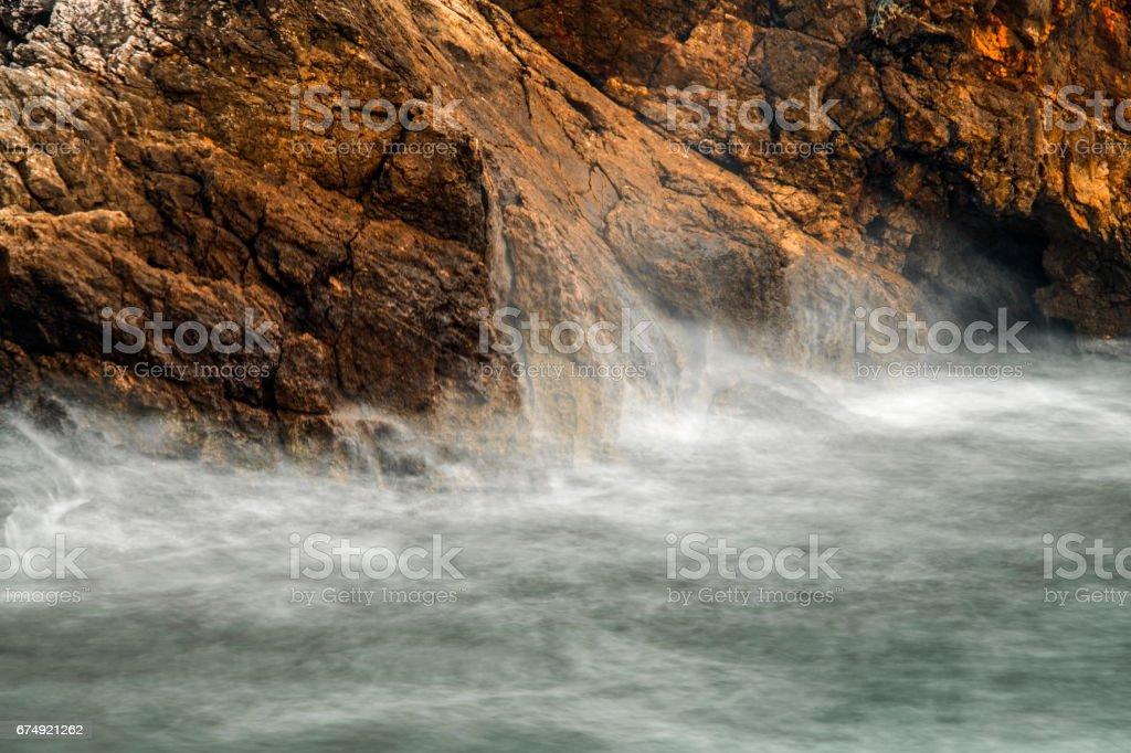 Montenegro. Adriatic sea. It is storming royalty-free stock photo