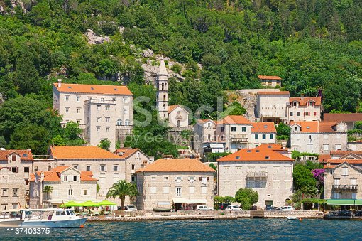 istock Montenegro, Bay of Kotor. View of  Perast town 1137403375