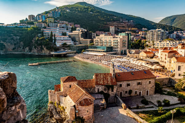 Montenegro – Budva in Summer stock photo