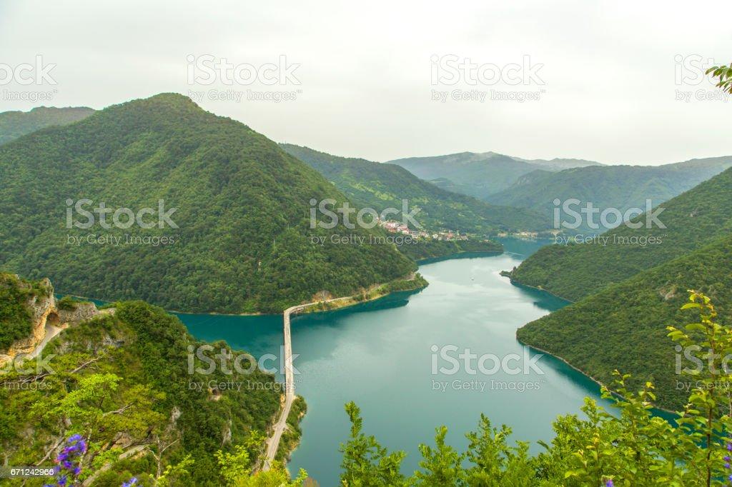 Montenegro. Durmitor National Park. Piva River Canyon stock photo