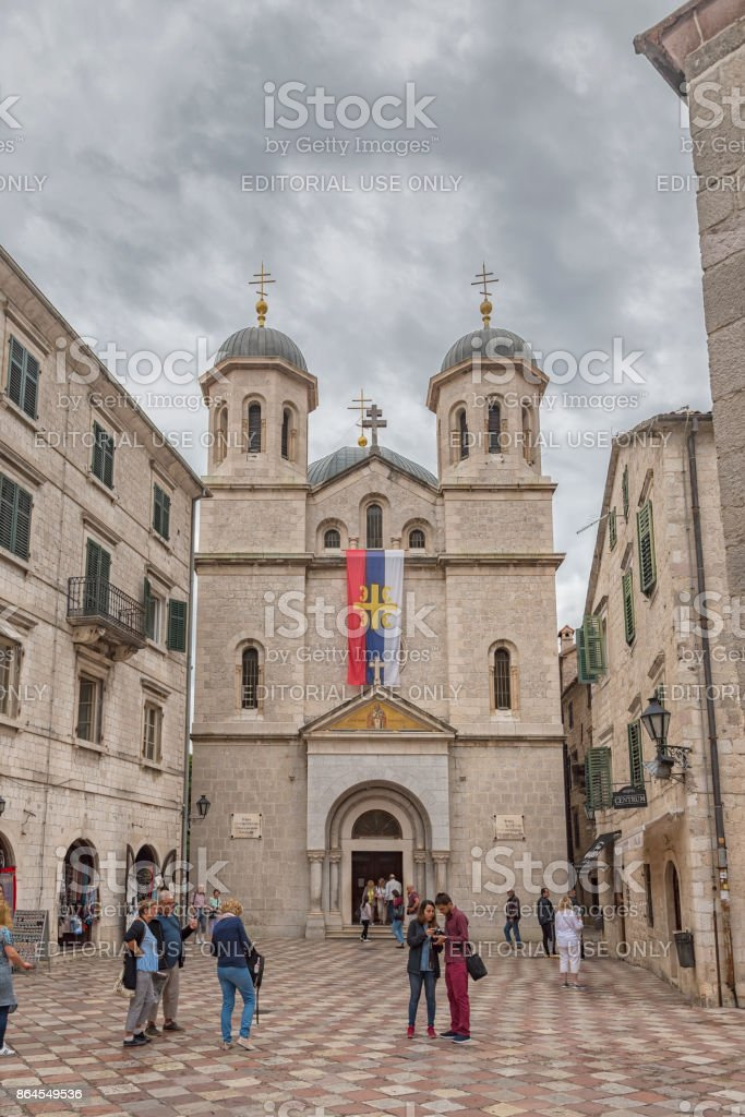 Montenegro Kotor Church of Saint Nicholas stock photo
