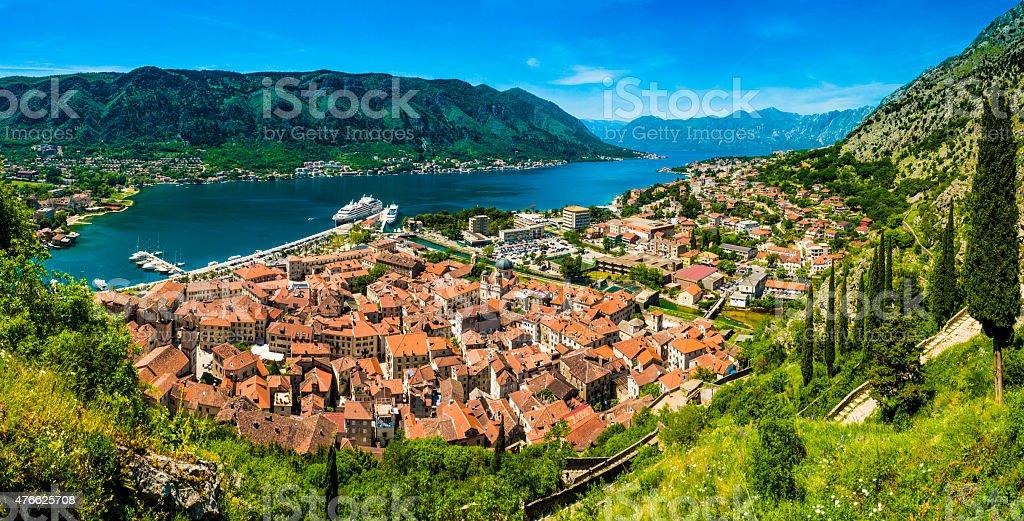 Montenegro Kotor Panorama stock photo