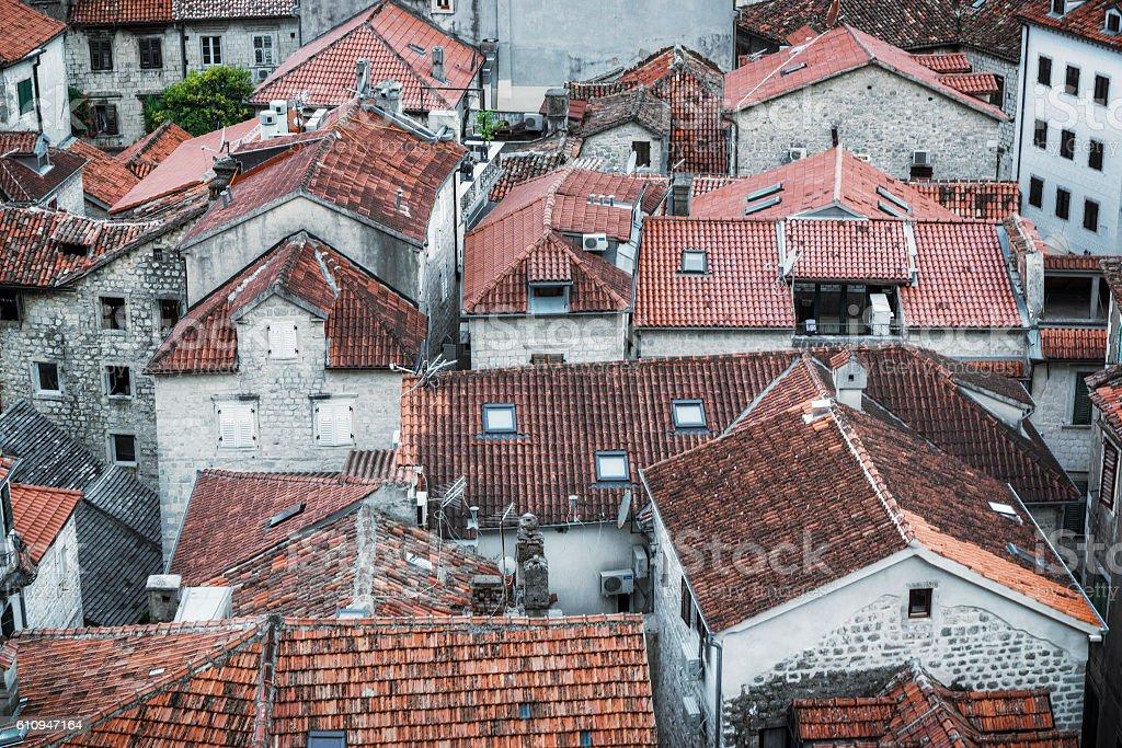Montenegro Rooftops stock photo