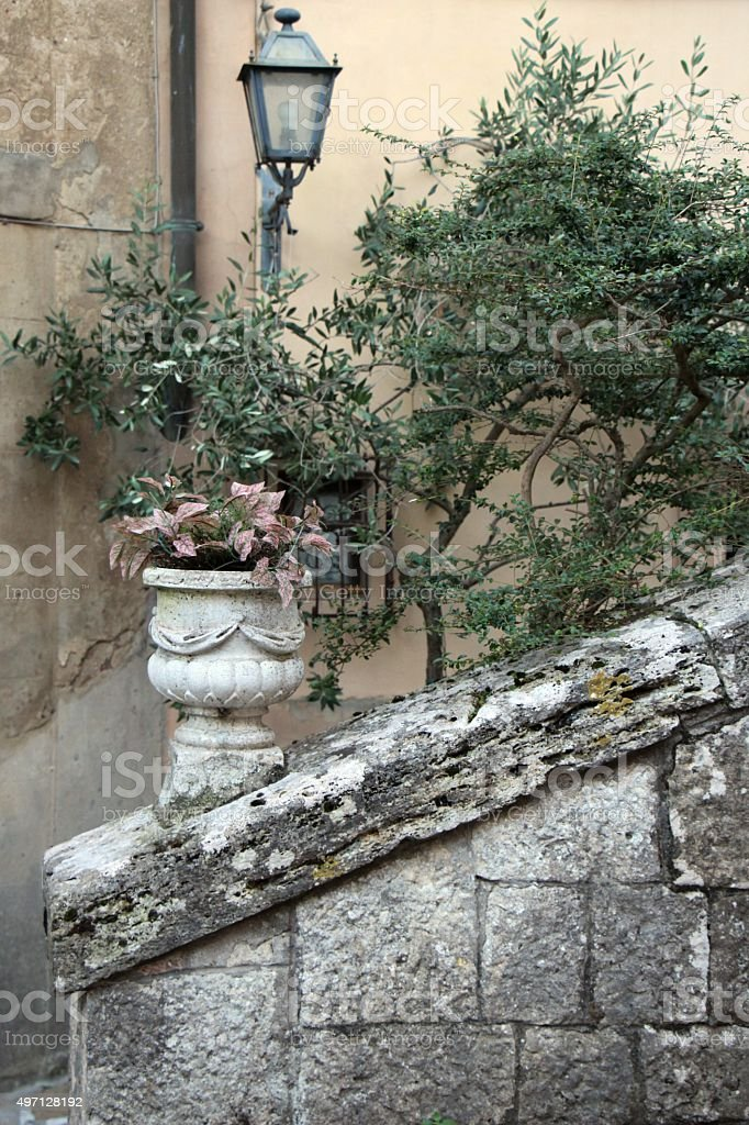 montepulciano - decoration in the street stock photo