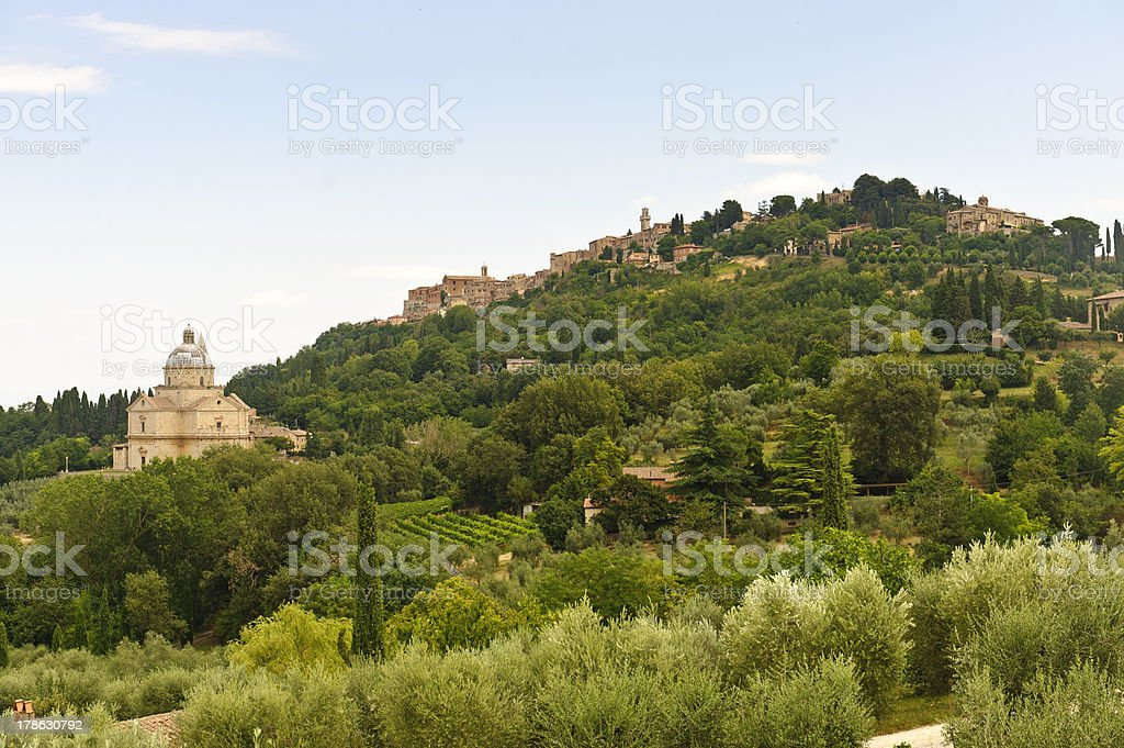 Montepulciano (Siena) royalty-free stock photo