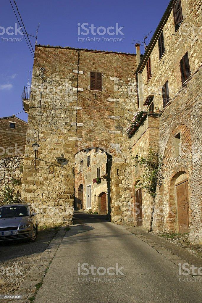 Montepulciano, Italia foto de stock libre de derechos