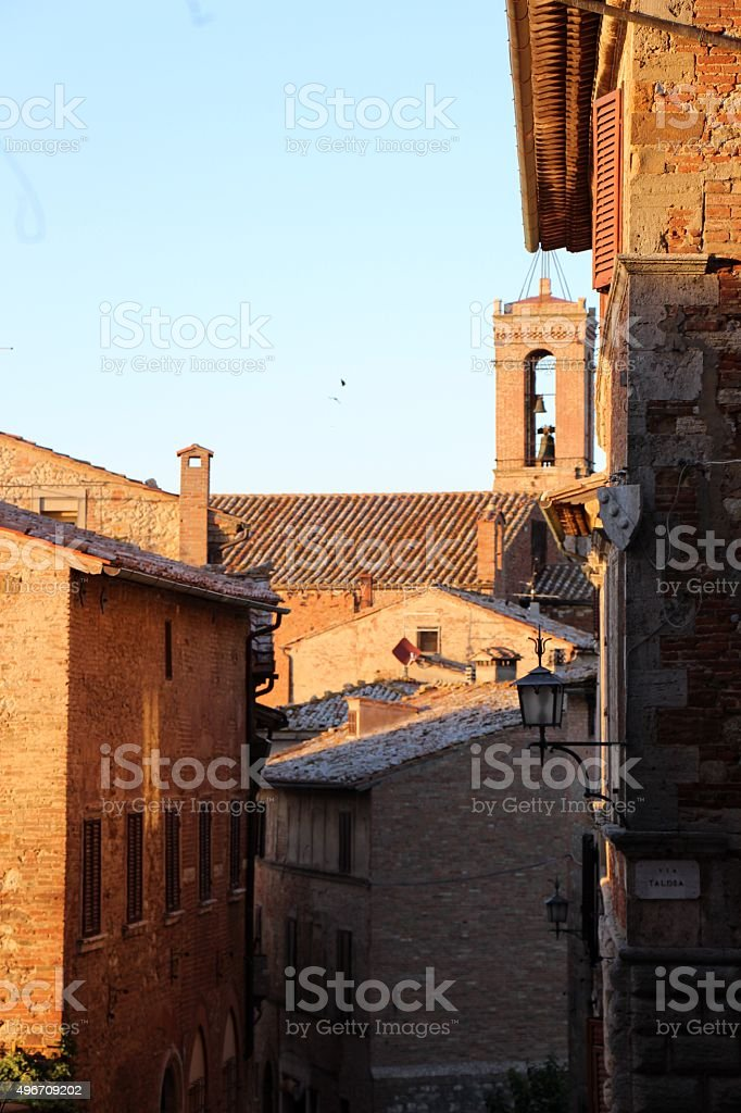 montepulciano - old town stock photo