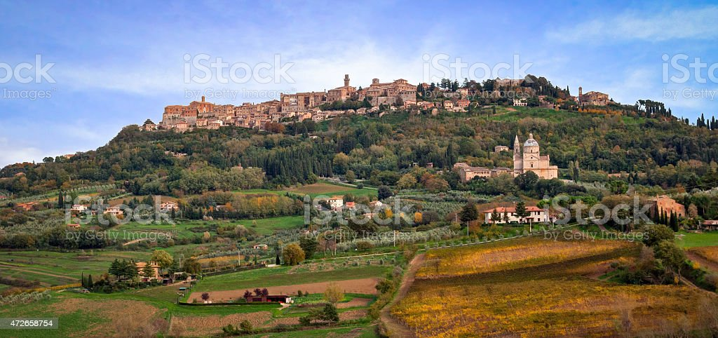 Montepulciano, Tuscany, Italy stock photo