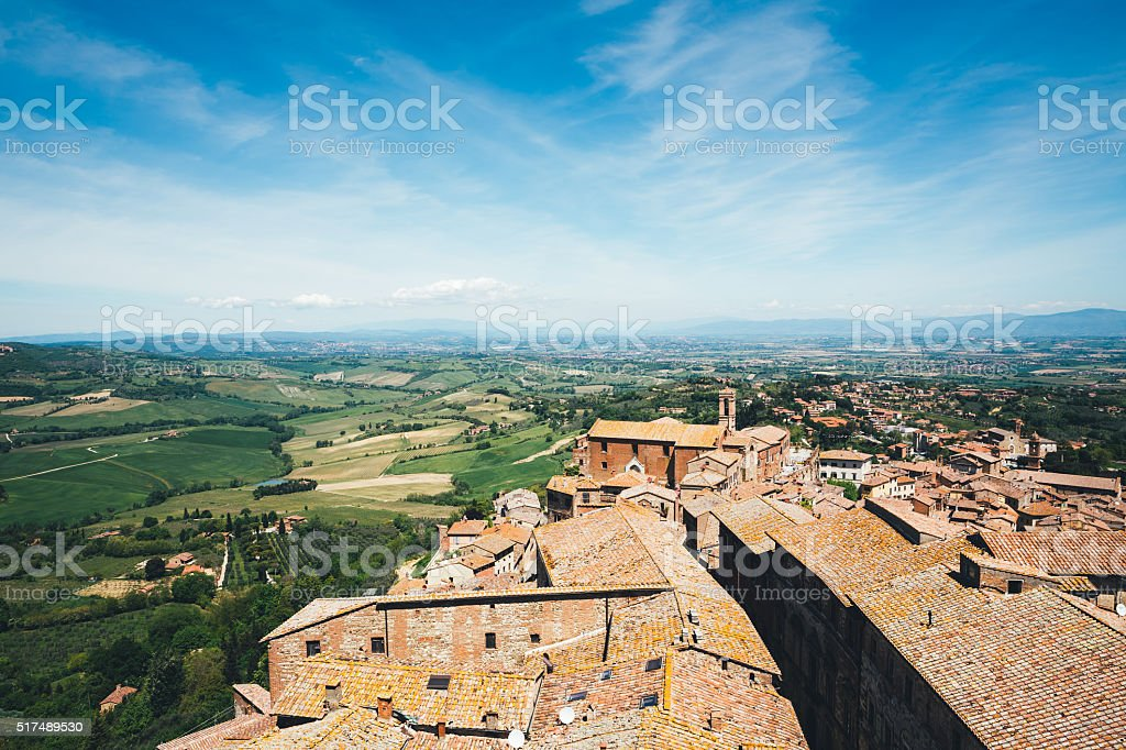 Montepulciano Tuscany stock photo
