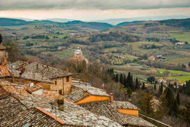 Montepulciano valley stock photo