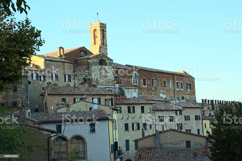 montepulciano - view on the town stock photo