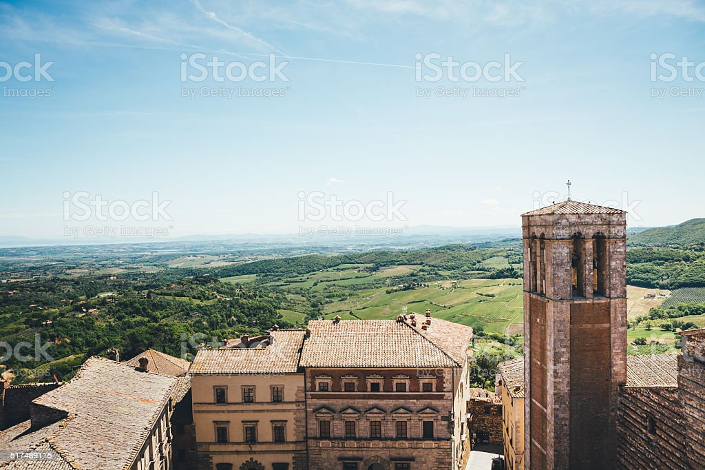 Montepulciano Village In Tuscany stock photo
