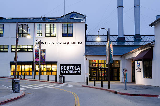 Monterey Bay Aquarium along Cannery Row stock photo