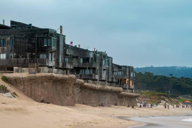 Monterey Beach Condominiums stock photo
