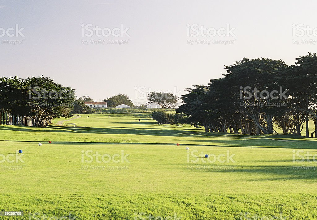Monterey Golf course tee and hole