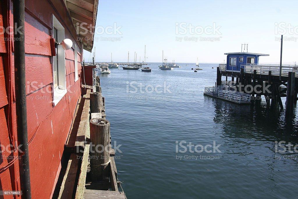 Monterey harbor stock photo