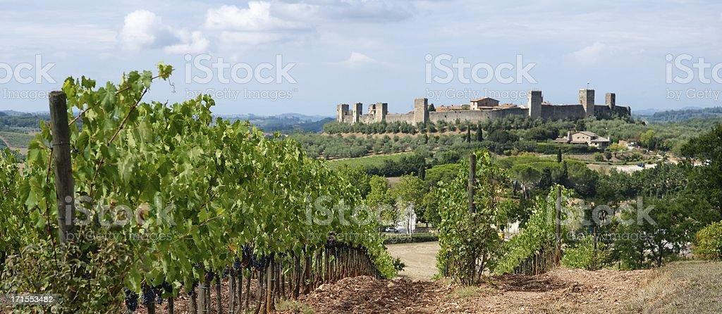 Monteriggioni royalty-free stock photo