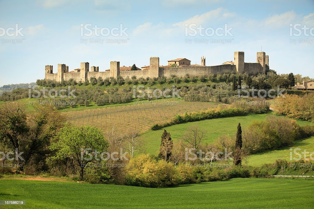 Monteriggioni, Siena Tuscany Italy royalty-free stock photo